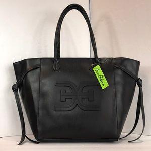 Sam Edelman top zip leather tote shoulder bag